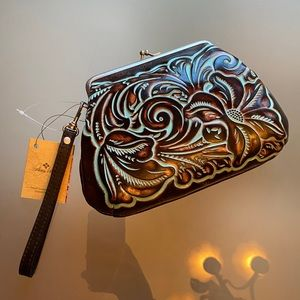 Patricia Nash tooled clutch